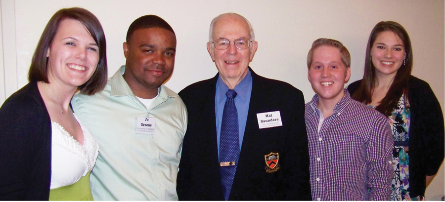 UA students are shown here with Ambassador Hal Saunders, founder of Sustained Dialogue.